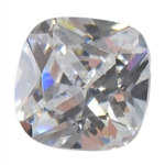 Cubic Zirconia - White Diamond - Cushion 8mm