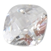 CZ: White Diamond - Cushion - Checkerboard 6mm Pkg - 2