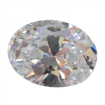 Cubic Zirconia - White Diamond - Oval 6mm x 8mm