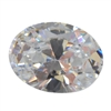 CZ: White Diamond - Oval 8mm x 10mm Pkg - 1