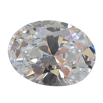 Cubic Zirconia - White Diamond - Oval 9mm x 11mm