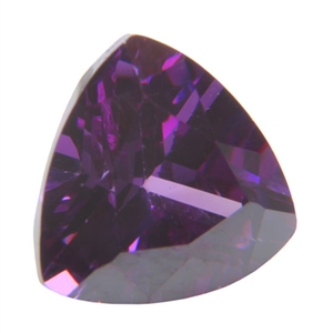 CZ: Trillion 6x6mm Amethyst Pkg - 2