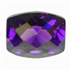 CZ: Amethyst - Barrel - Checkerboard 8mm x 10mm Pkg - 1