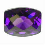Cubic Zirconia - Amethyst - Barrel - Checkerboard