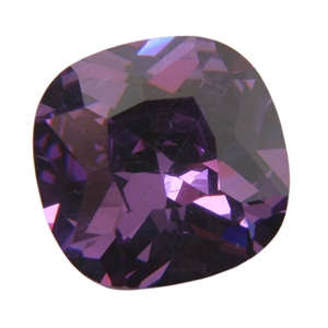 CZ: Amethyst - Cushion 10mm Pkg - 1
