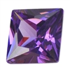 Cubic Zirconia - Amethyst - Square 8mm