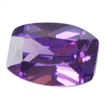 Cubic Zirconia - Amethyst - Barrel 4mm x 6mm