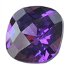 Cubic Zirconia - Amethyst - Cushion - Checkerboard 6mm