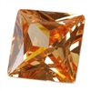 Cubic Zirconia - Champagne - Square 6mm
