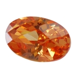 CZ: Champagne - Oval - Checkerboard 13mm x 18mm Pkg - 1
