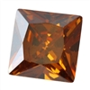 CZ: Square 6x6mm Smoked Topaz Pkg - 2