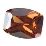 Cubic Zirconia - Smoked Topaz - Barrel - Checkerboard