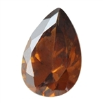 CZ: Smoked Topaz - Pear 10mm x 12mm Pkg - 1