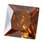 Cubic Zirconia - Smoked Topaz - Square 8mm