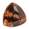 Cubic Zirconia - Smoked Topaz - Trillion 8mm