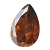 Cubic Zirconia - Smoked Topaz - Pear 6mm x 9mm