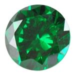 Cubic Zirconia - Columbian Emerald - Round 2mm