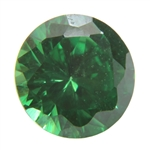 CZ: Round 5mm Columbian Emerald Pkg - 4