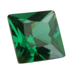 CZ: Square 4x4mm Columbian Emerald Pkg - 4