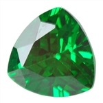 Cubic Zirconia Columbian Emerald: Trillion 4x4mm Pkg - 4