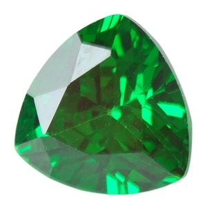 Cubic Zirconia Columbian Emerald: Trillion 4x4mm - Pak of 2
