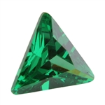 CZ: Triangle 6x6mm Columbian Emerald Pkg - 2