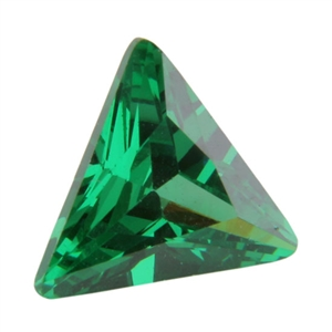 CZ: Triangle 6x6mm Columbian Emerald - Pak of 1