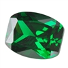 Cubic Zirconia - Columbian Emerald - Barrel 4mm x 6mm