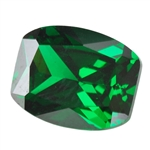 Cubic Zirconia - Columbian Emerald - Barrel 5mm x 7mm