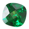 Cubic Zirconia - Columbian Emerald - Cushion - Checkerboard 8mm