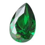 Cubic Zirconia - Columbian Emerald - Pear 6mm x 9mm