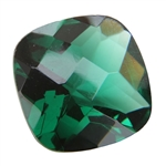 CZ: Columbian Emerald - Cushion - Checkerboard 10mm Pkg - 1