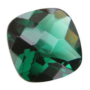 CZ: Columbian Emerald - Cushion - Checkerboard 14mm Pkg - 1