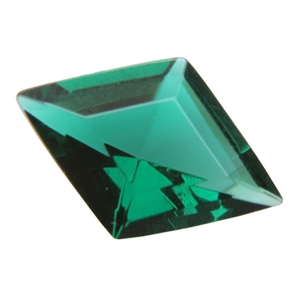 Cubic Zirconia - Columbian Emerald - Diamond 9mm x 13mm Pkg - 1