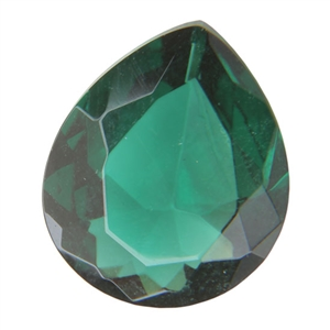 CZ: Columbian Emerald - Pear 10mm x 12mm Pkg -1