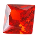 Cubic Zirconia - Fire Opal - Square