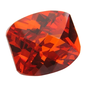 CZ: Fire Opal - Barrel - Checkerboard 8mm x 10mm Pkg - 1