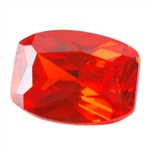 Cubic Zirconia - Fire Opal - Barrel
