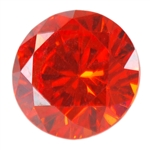 Cubic Zirconia - Fire Opal - Round 4mm