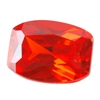 Cubic Zirconia - Fire Opal - Barrel 4mm x 6mm