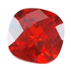 Cubic Zirconia - Fire Opal - Cushion - Checkerboard 6mm
