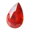 CZ: Fire Opal - Pear 5mm x 8mm Pkg - 4