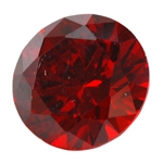 CZ: Hessonite Garnet - Round 2mm Pkg - 10