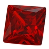 CZ: Square 3x3mm Hessonite Garnet Pkg - 10