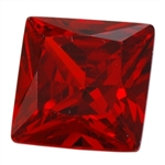 CZ: Square 4x4mm Hessonite Garnet Pkg - 4