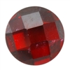 Cubic Zirconia - Hessonite Garnet - Cabochon Round - Checkerboard 4mm