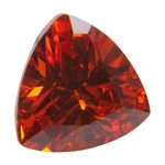 CZ: Trillion 6x6mm Hessonite Garnet - Pak of 5