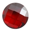 Cubic Zirconia - Hessonite Garnet - Cabochon Round - Checkerboard 6mm
