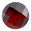 Cubic Zirconia - Hessonite Garnet - Cabochon Round - Checkerboard 8mm