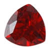 Cubic Zirconia - Hessonite Garnet - Trillion 4mm